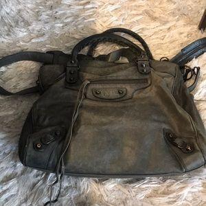 Balenciaga cross body bag in gray